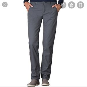 Toad & Co Midrise Checkpoint Grey Straight Pants